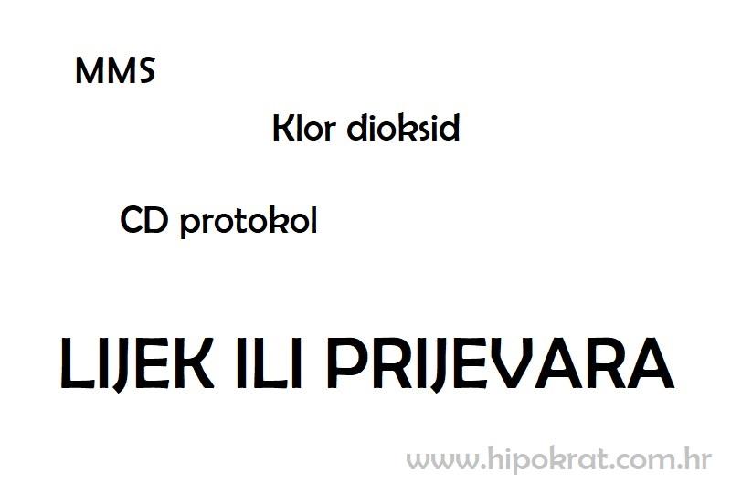 MMS, CD protokol, Klor dioksid