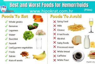 Prehrana kod hemoroida